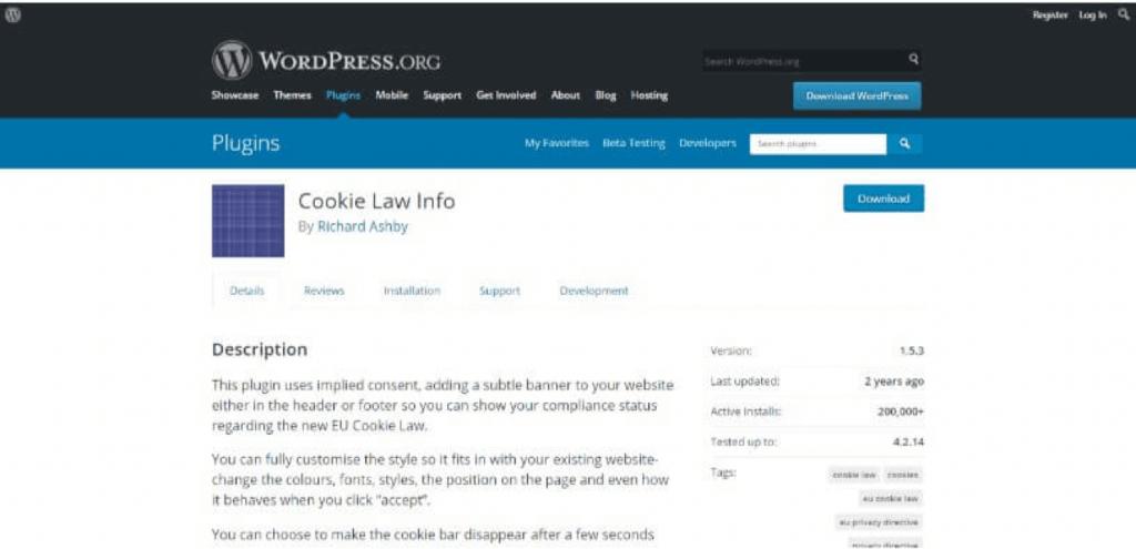Cookie melding plugin 3