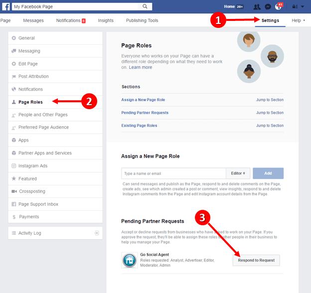 facebook business verzoek