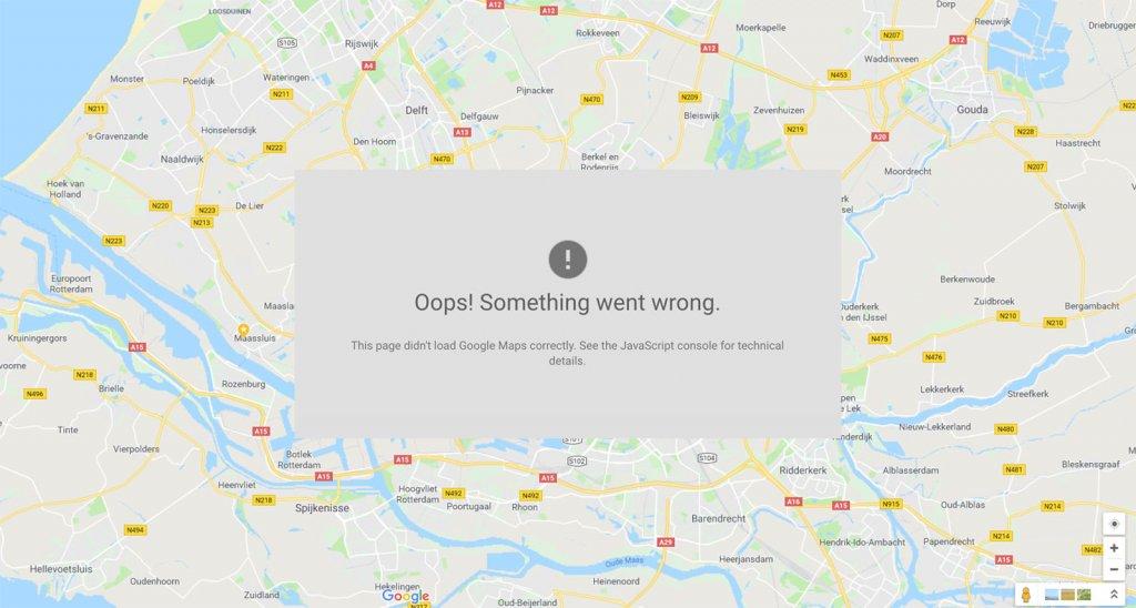 Google-Maps-doet-het-niet-meer