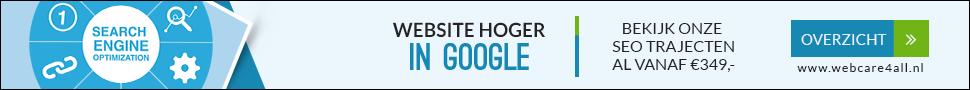 Website hoger in google seo traject